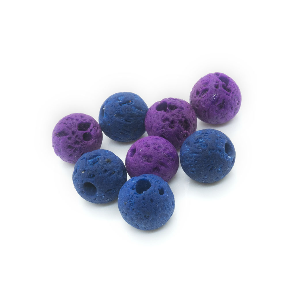Synthetic Lava Rock Beads 6mm