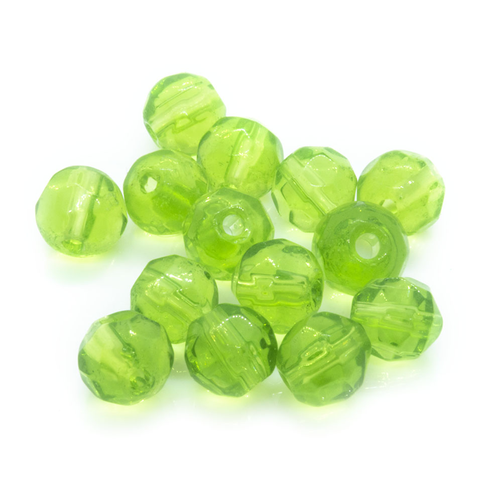 Crystal Glass Faceted Round 4mm