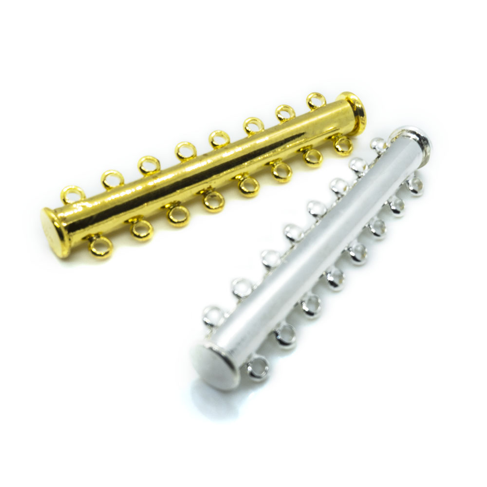 Magnetic Slide Lock Tube Clasp 46mm x 10mm