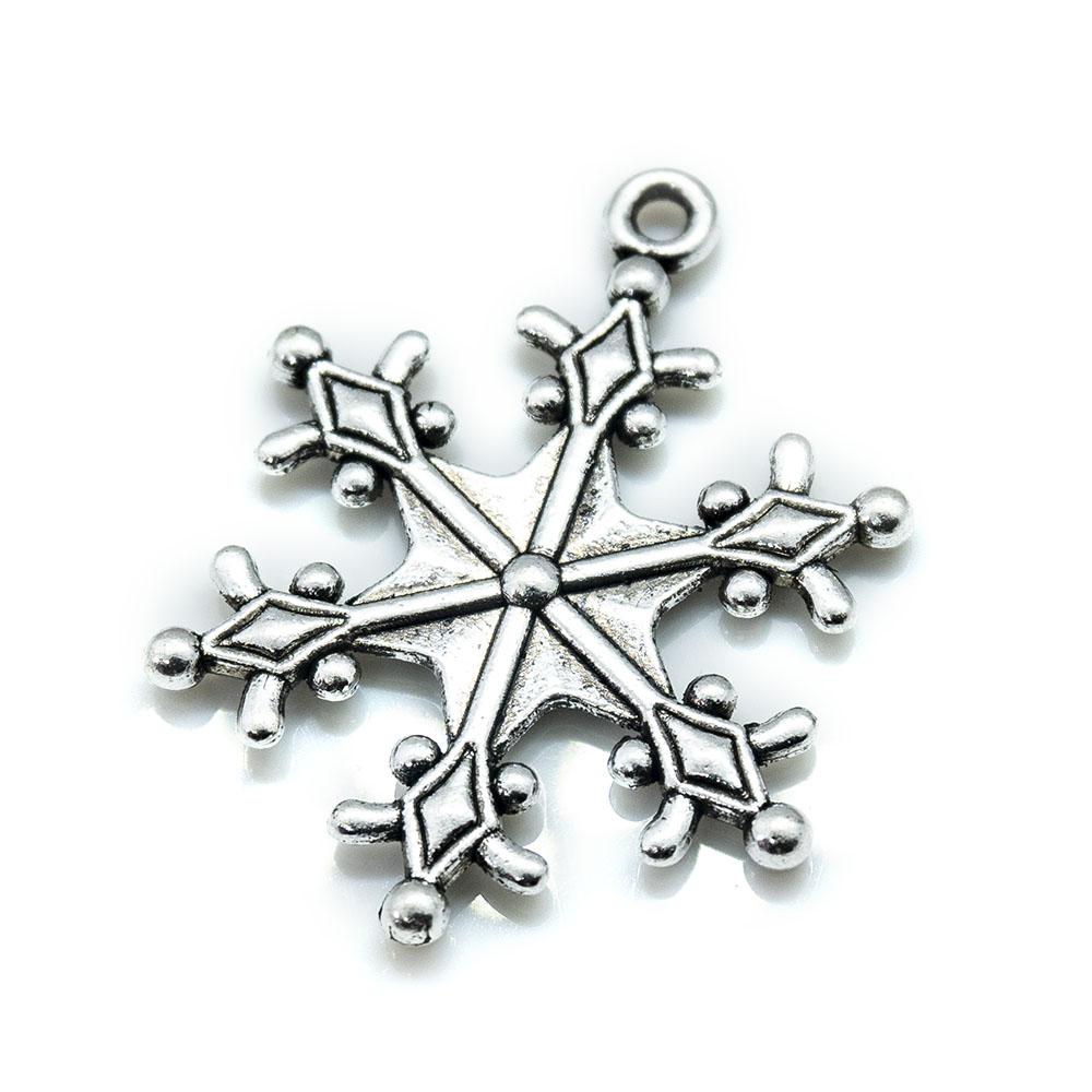 Snowflake Pendant Charm 29mm x 22mm