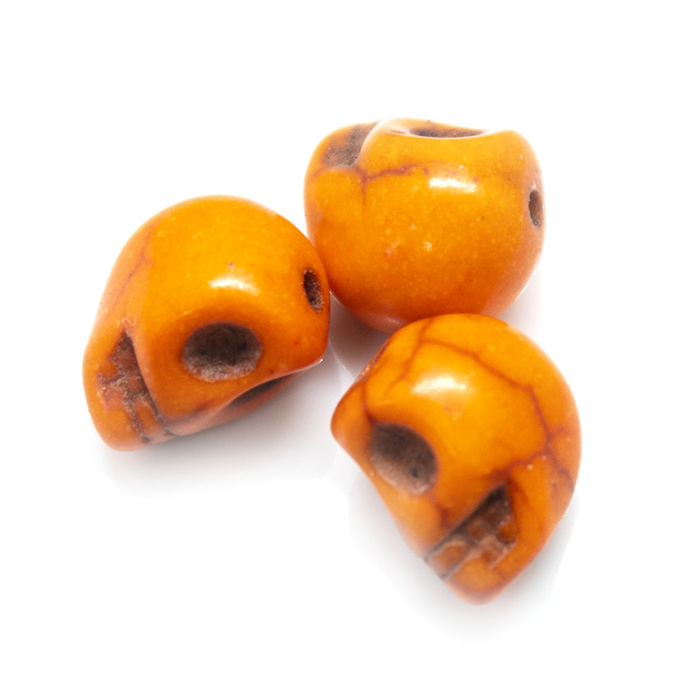 Synthetic Turquoise Skull Bead 10mm x 9mm x 8mm