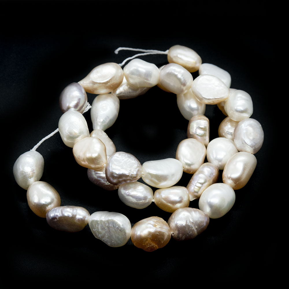 Natural Cultured Freshwater Pearls - Nugget 9-14mm x 6-9mm