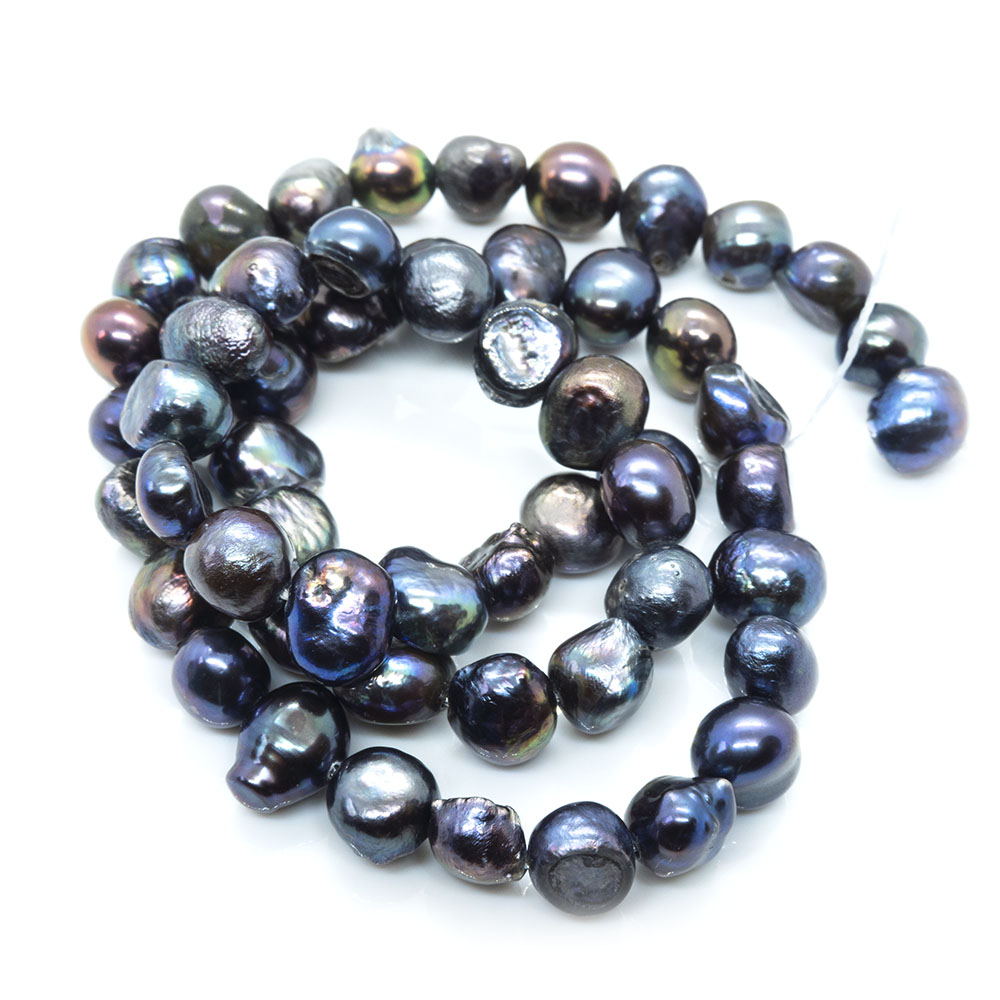 Electroplated Natural Cultured Freshwater Pearls - Nugget 6-7.5mm x 5-6.5mm