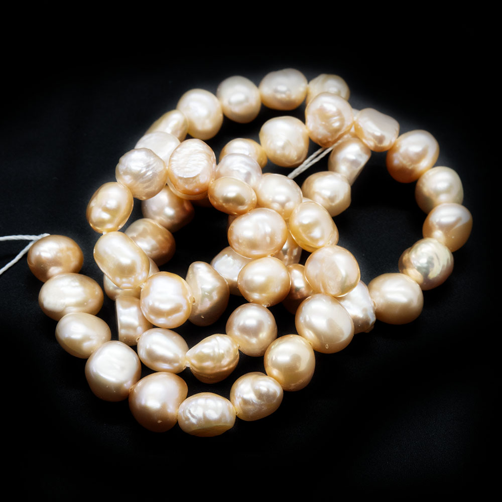 Natural Cultured Freshwater Pearls - Nugget 6-8mm x 5-5.5mm
