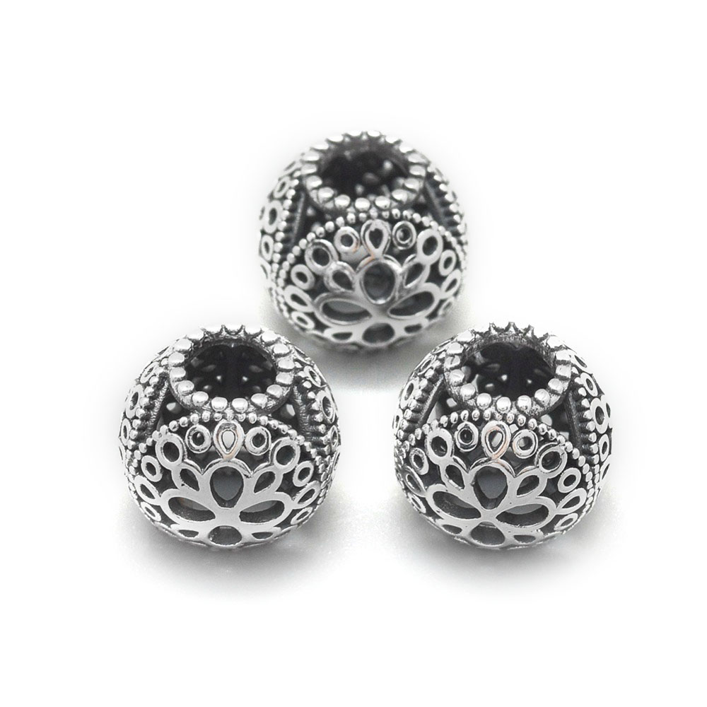 925 Sterling Silver European Beads 10.5mm