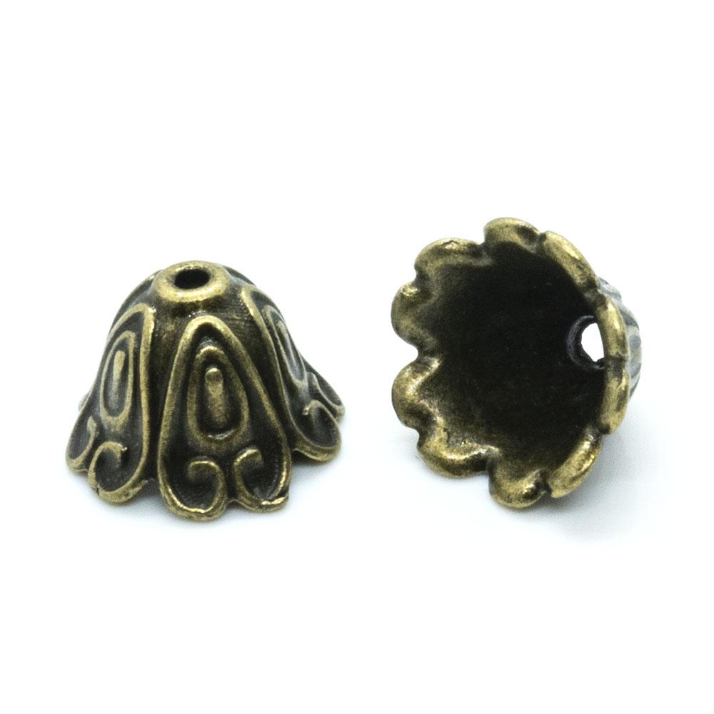 Tibetan Style Bead Caps 15mm x 11mm