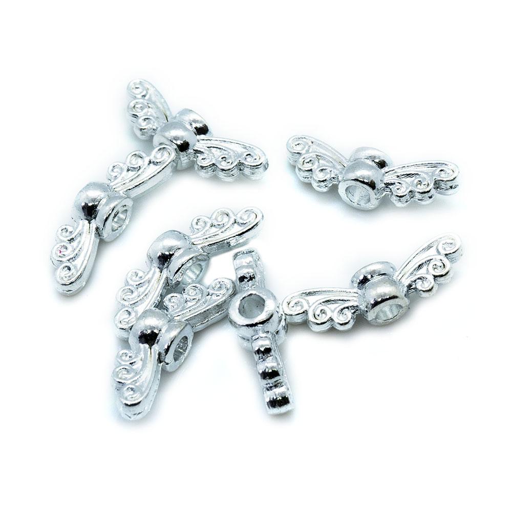 Tibetan Style Fairy Wing Beads 14mm x 4mm