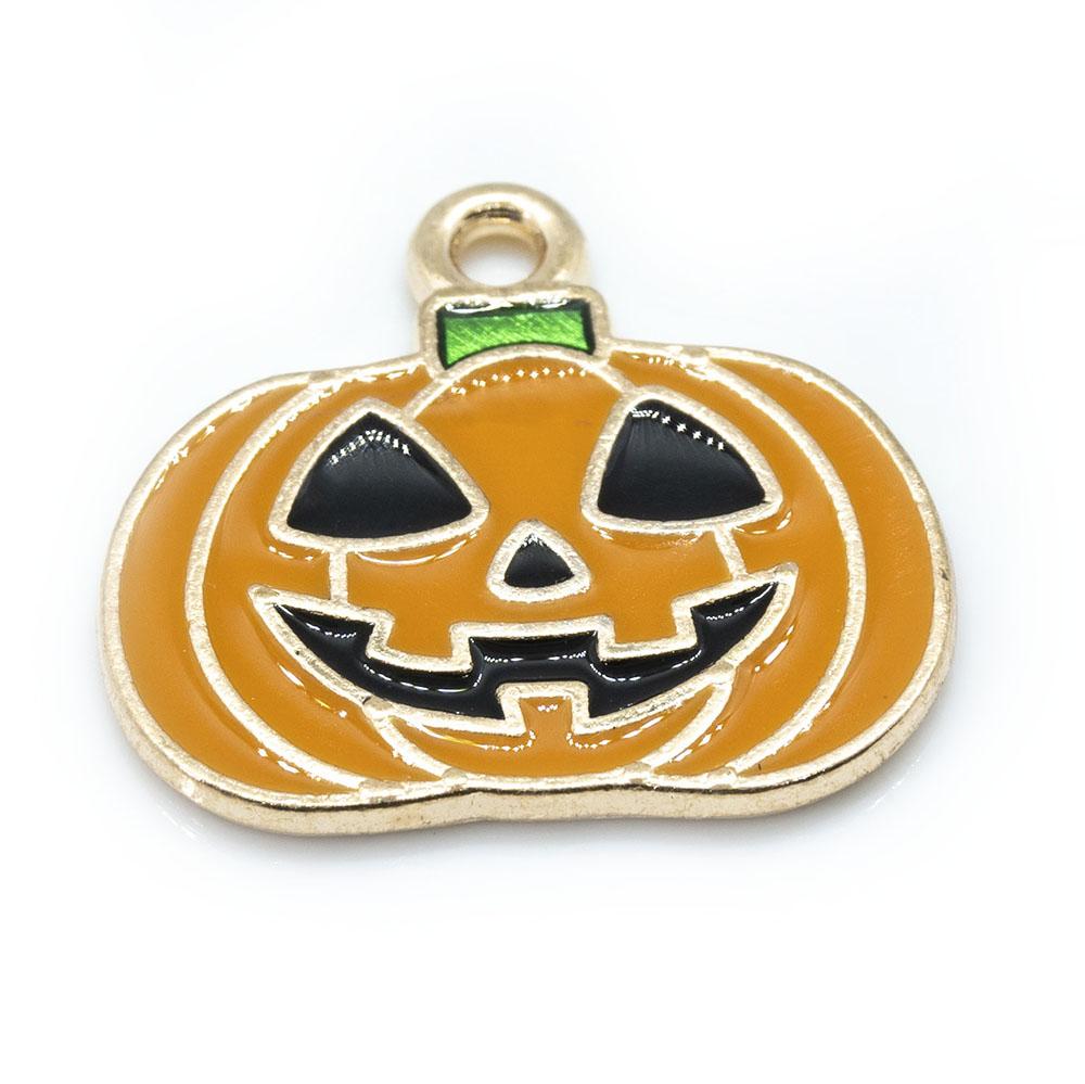 Pumpkin Charm 21mm x 19 mm