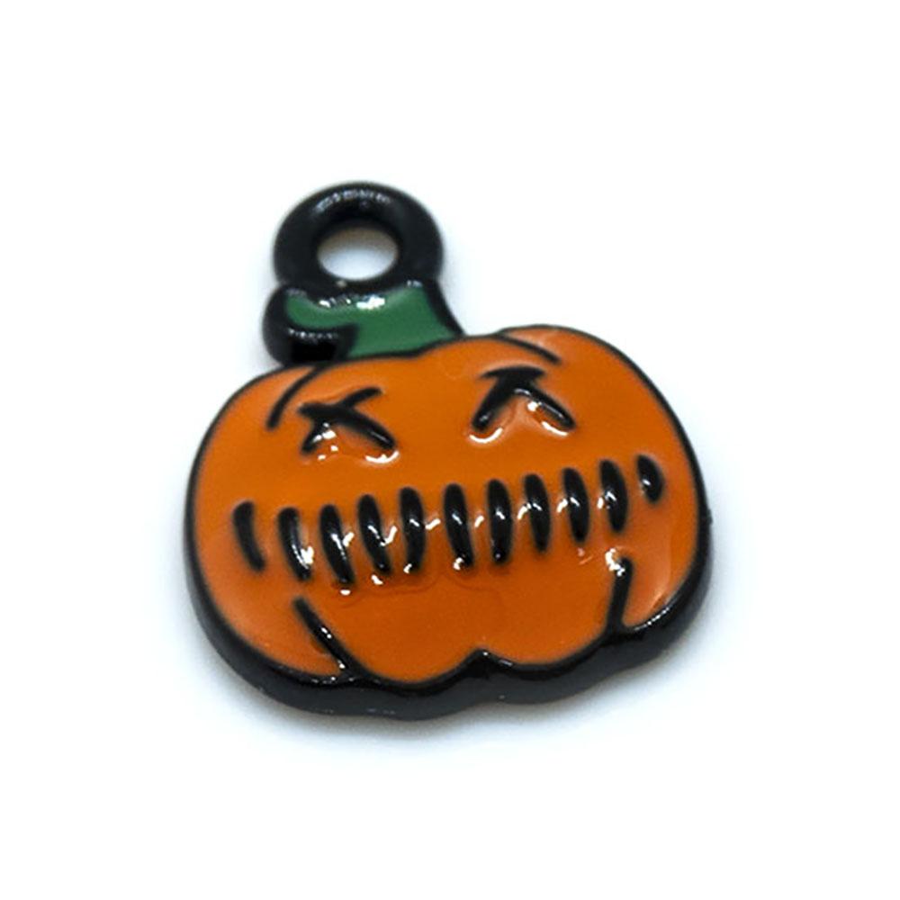 Small Pumpkin Charm 16mm x 12mm
