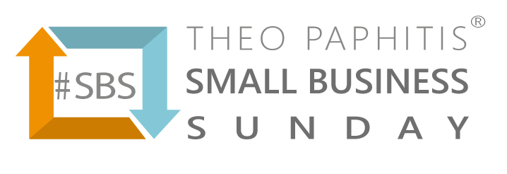 Image showing the logo of Theo Paphitis' Small Business Sunday initiative, from the featured-in press section.