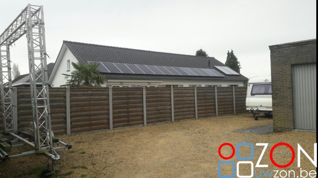 Installatie 14 zonnepanelen op een huis