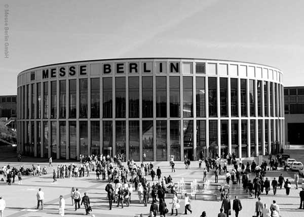 Eine Messehalle der Messe Berlin