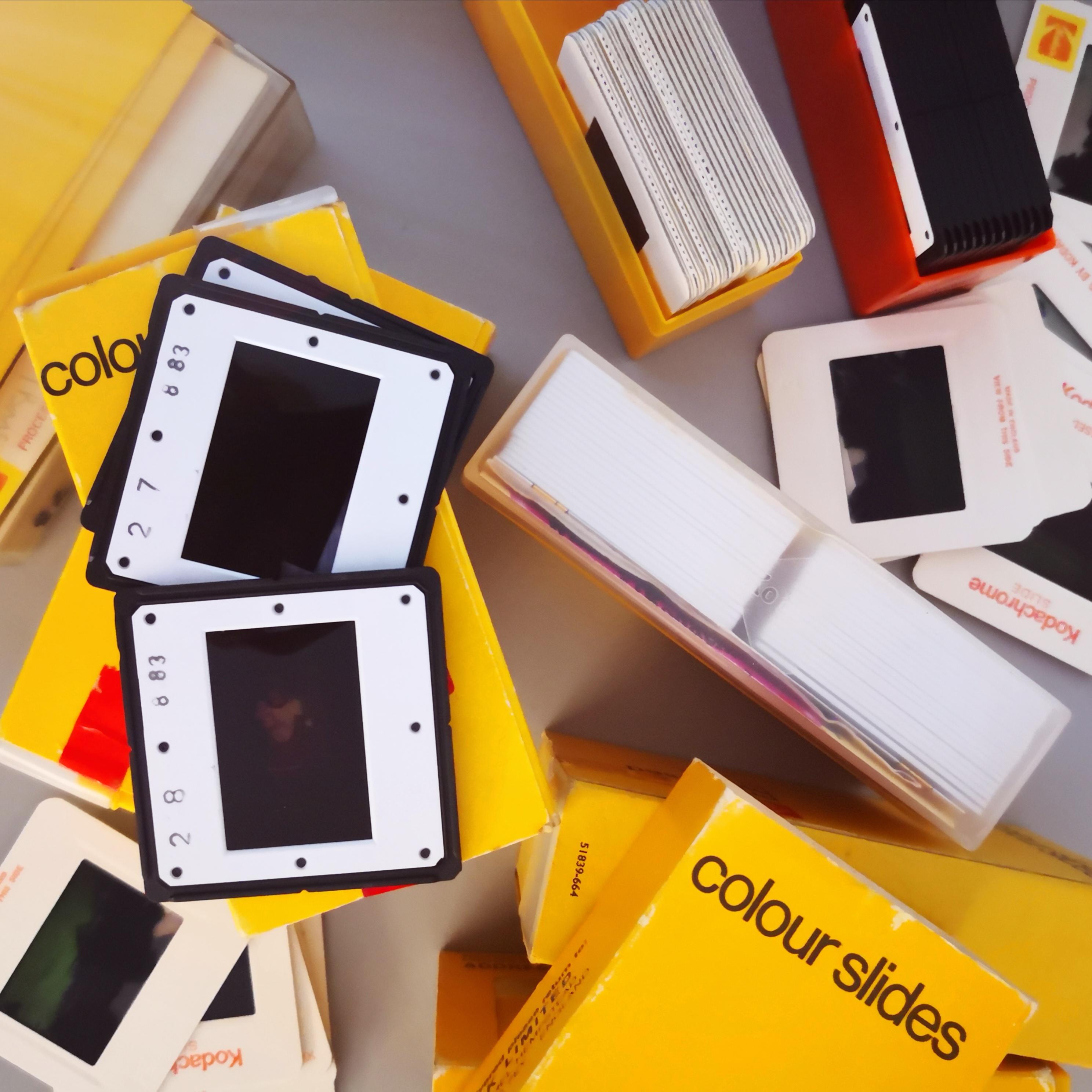 Image of some old 35mm slides, illustrating the slide scanning service on offer.