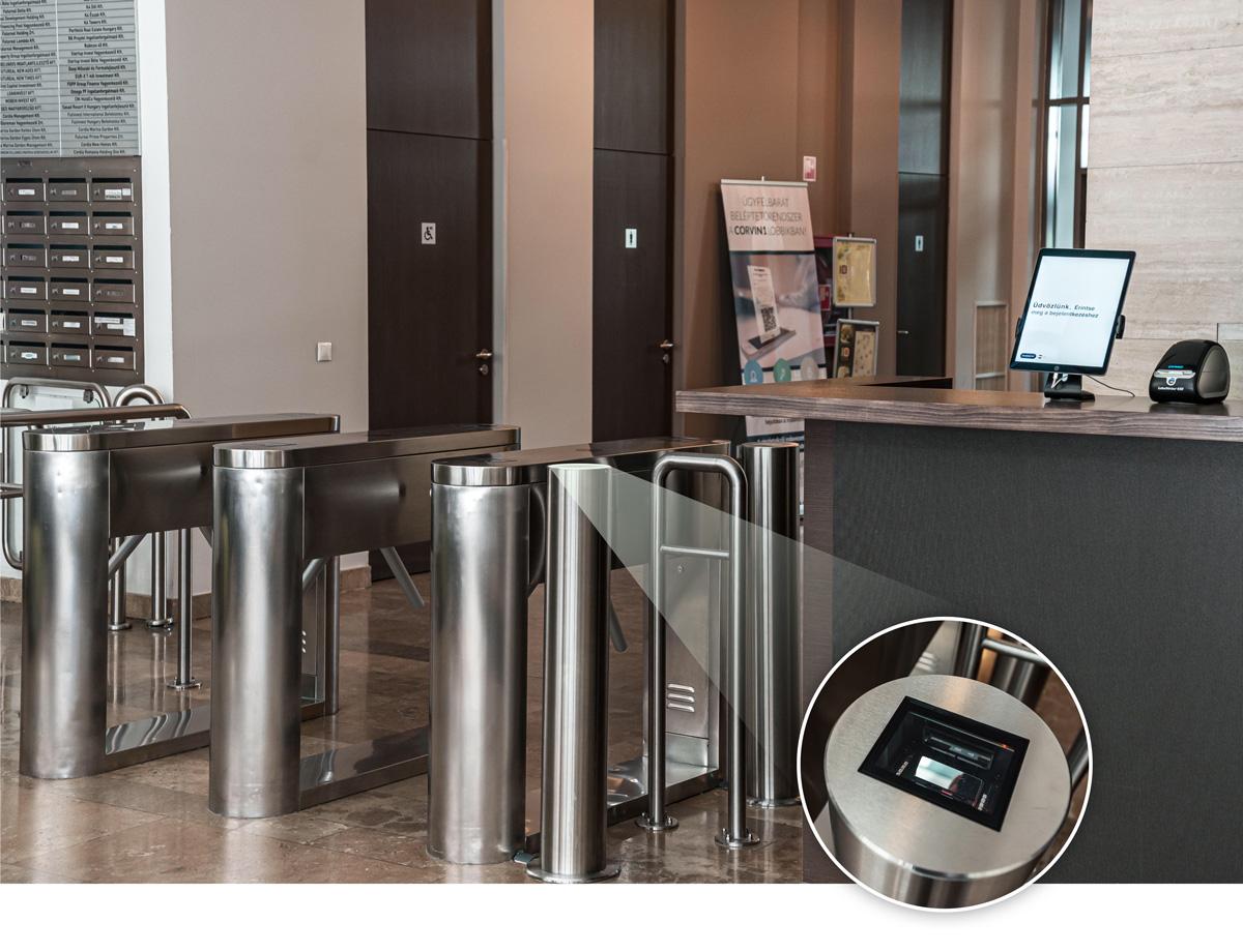 QR code reader for the visitor management