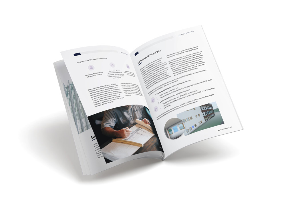 Preview of the ebook about the benefits of BIM and CAFM integration