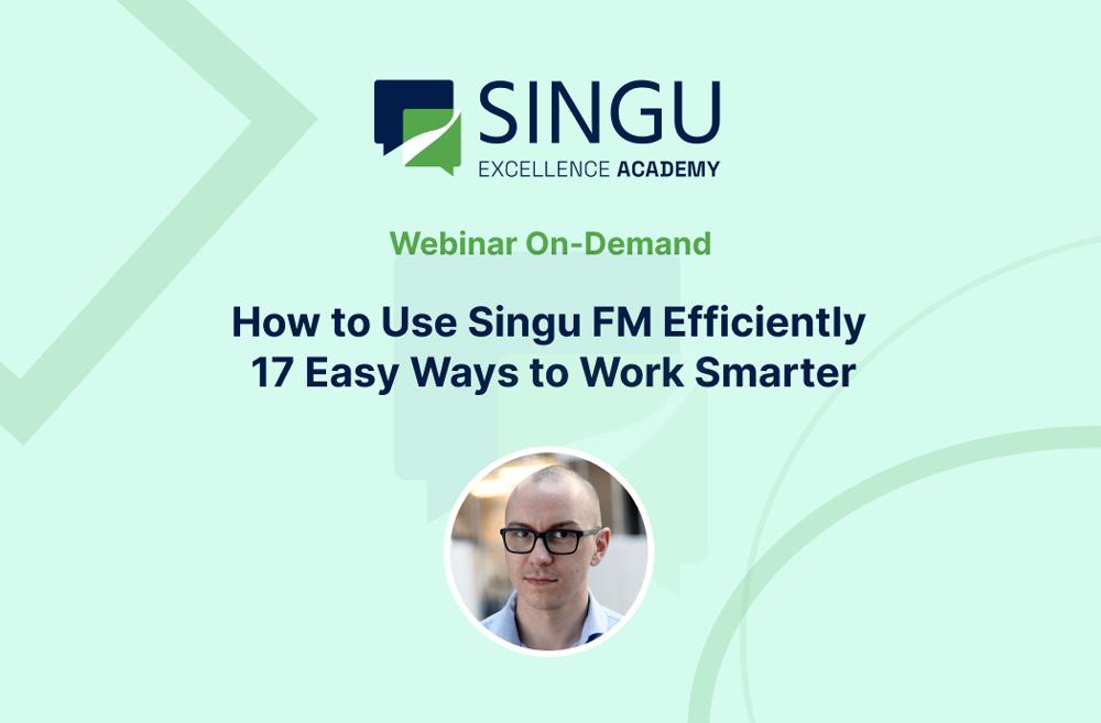 Webinar on-demand Singu Excellence Academy