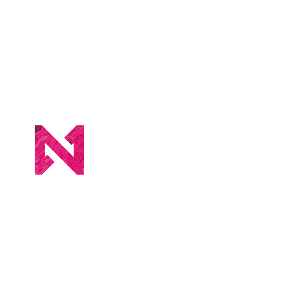 The Nued Logotype with a pink gradient representing diversity, sustainability and progressive thinking.