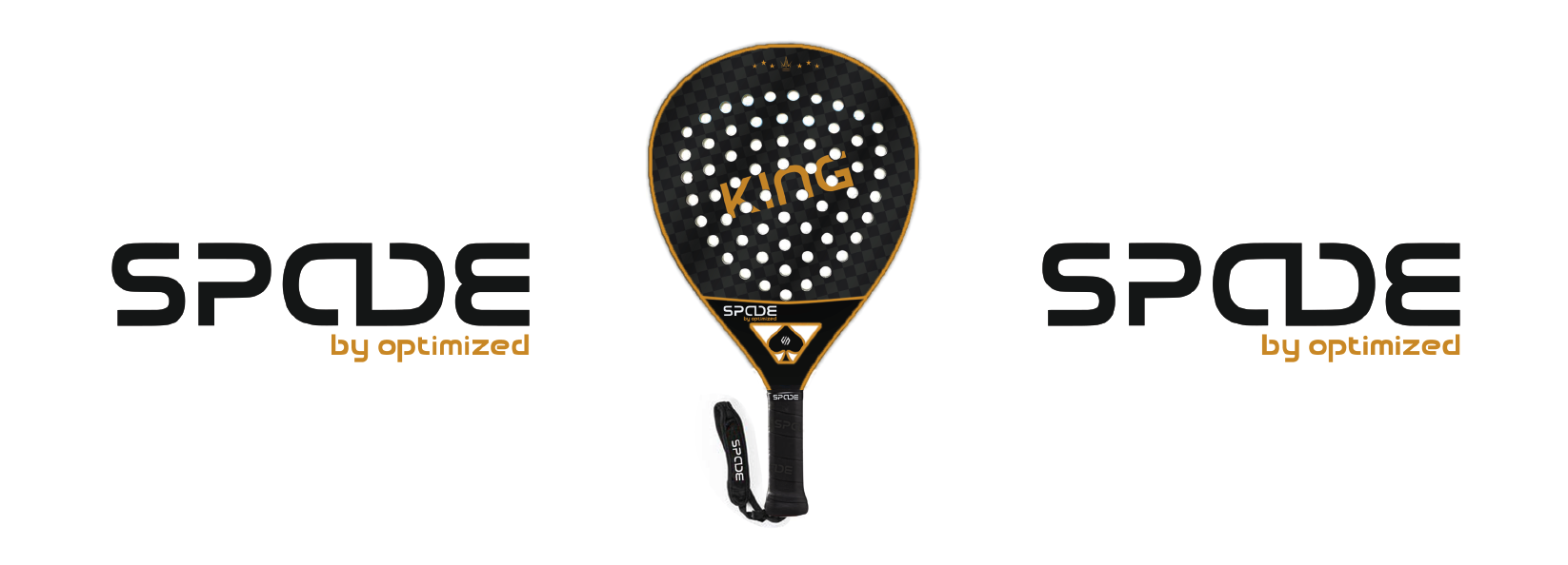 "A padel racquet for adults saying ""King"""