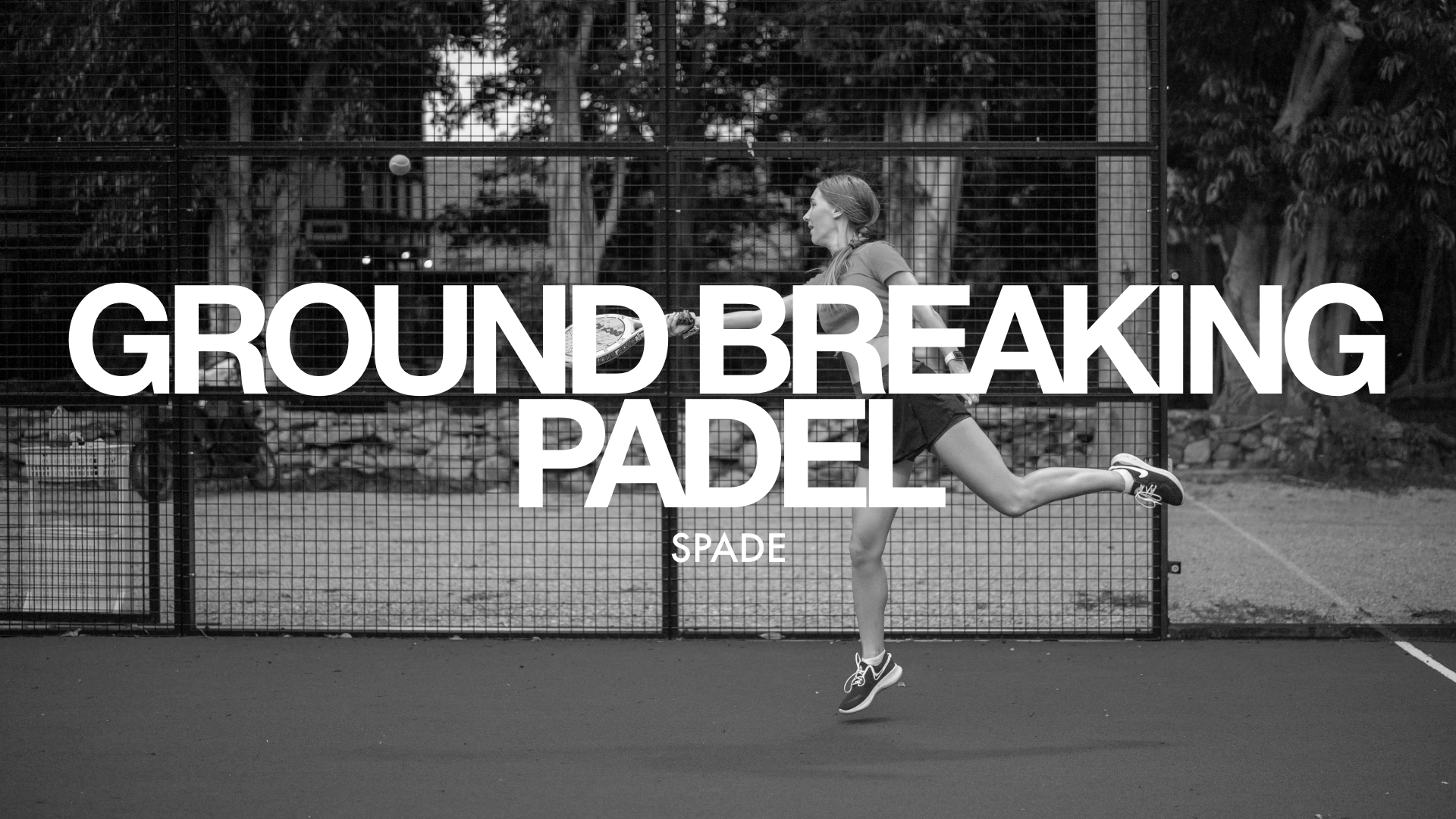 """Link to project """"Spade - Ground Breaking Padel"""""""