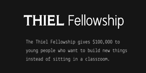 Prepared founder selected as Thiel Fellow