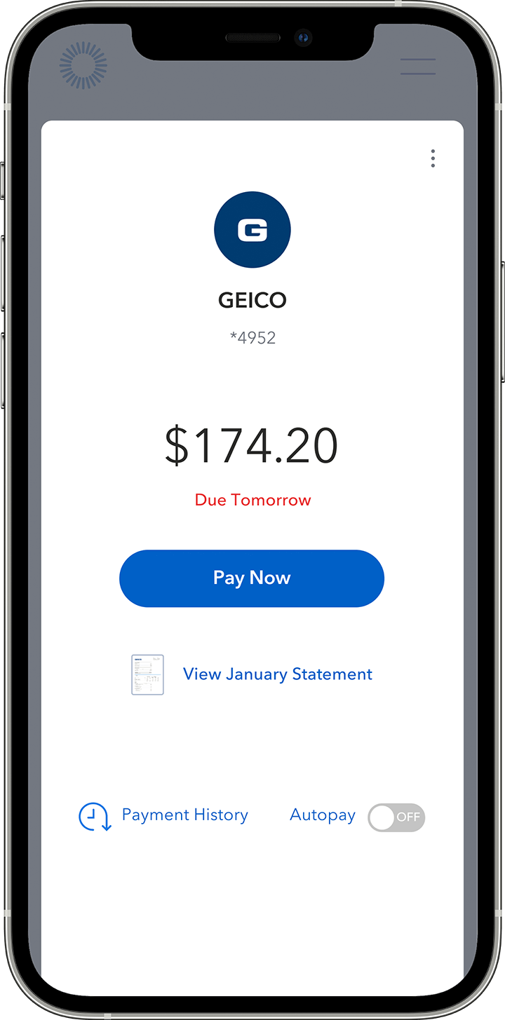 Send and receive bill payments in real-time phone animation