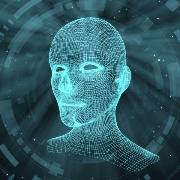 AI-generated human head
