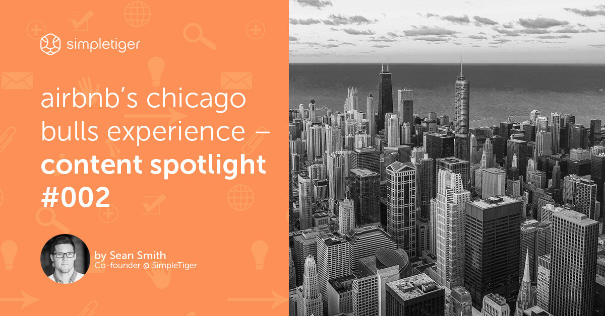 AirBnB's Chicago Bulls Experience – Content Spotlight #001