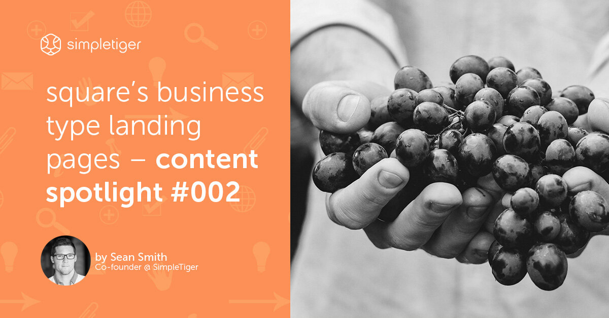 Square's Business Type Landing Pages – Content Spotlight #002
