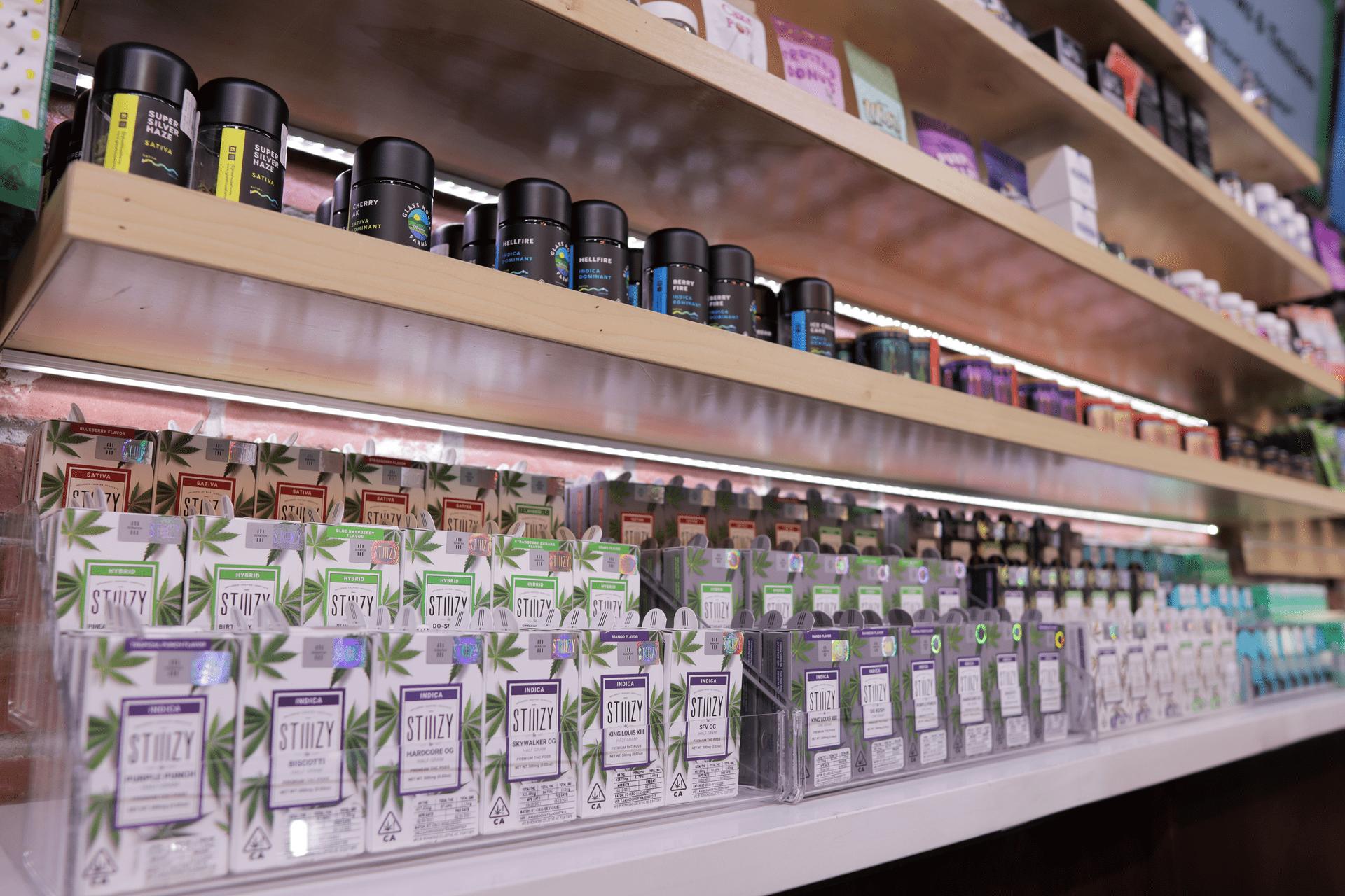Vape Cartridge Shelves