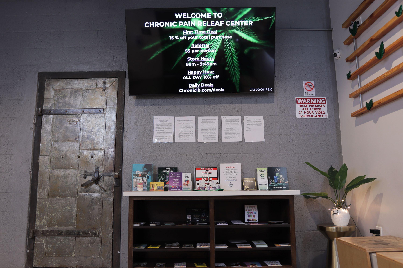 Reception entrance with TV menu