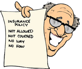 Happy man denying insurance coverage