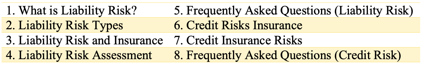 Credit and Liability Risks