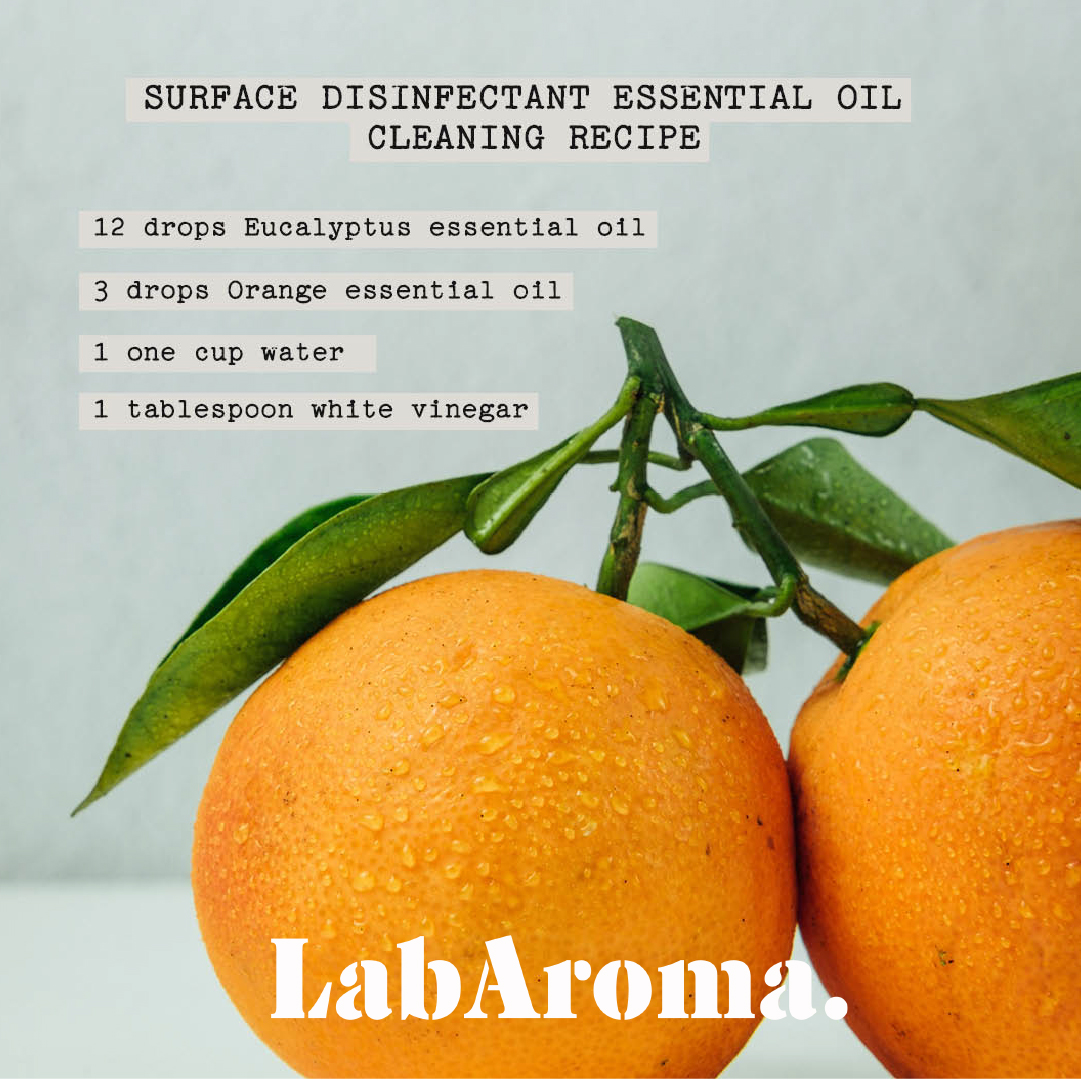 Surface Disinfectant Essential Oil Cleaning Recipe by LabAroma