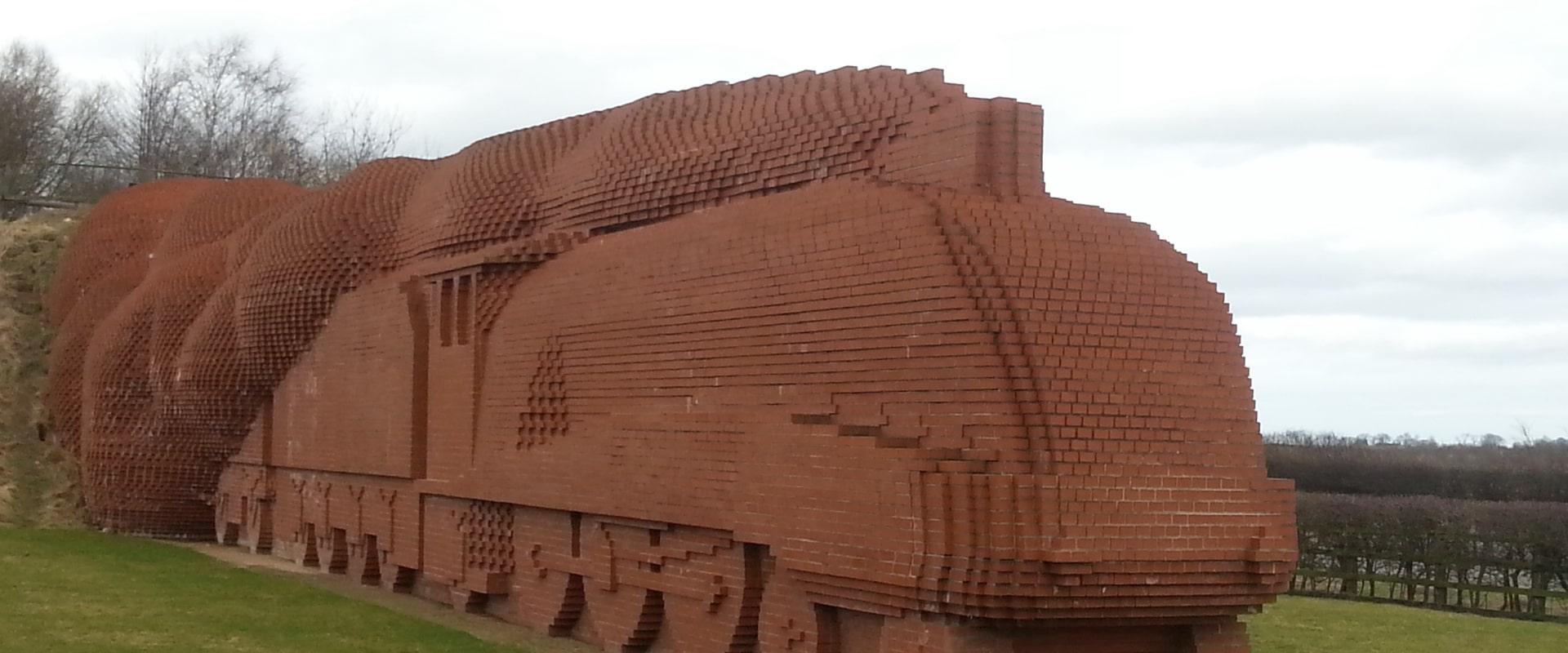 Darlington Train brick statue
