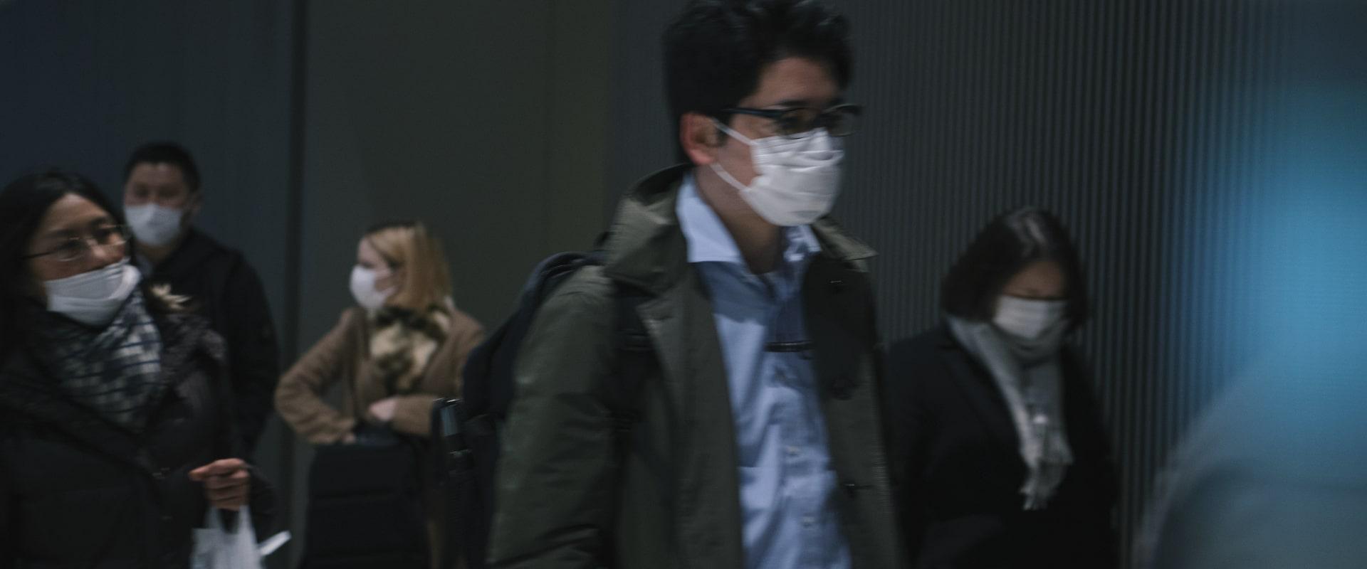 public wearing COVID masks