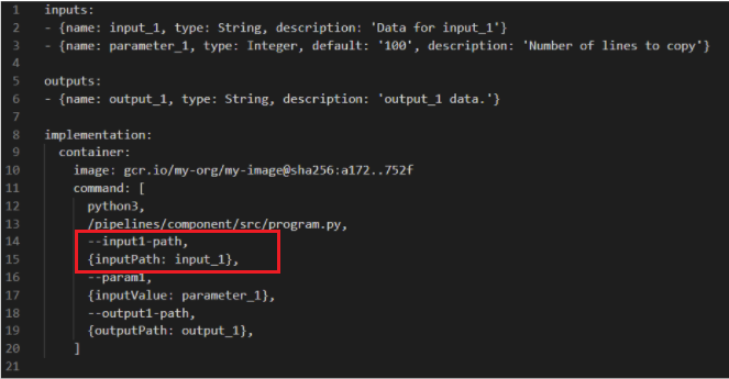 New style component specification component.yaml file