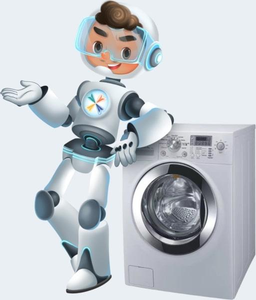 Fixes洗衣維修兵團團長在洗衣機機旁 - 全港上門維修洗衣機