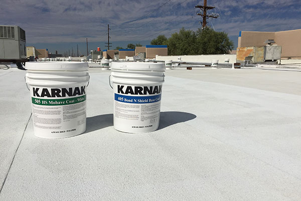 Performance of acrylic roof coating systems can be improved greatly when the right base coat is used