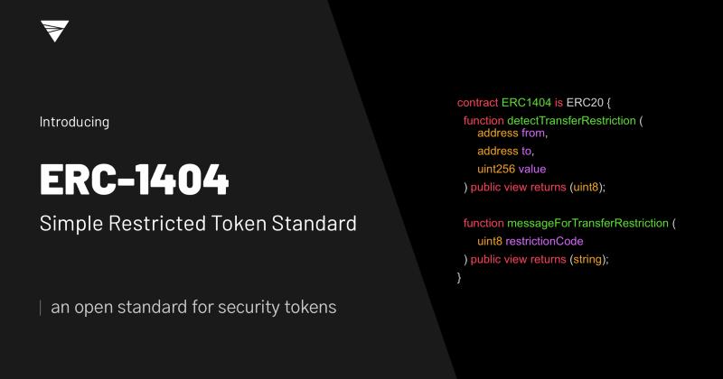 ERC-1404: Simple Restricted Token Standard