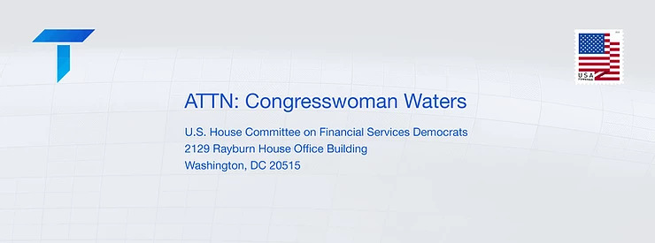 An Open Letter to Congresswoman Waters