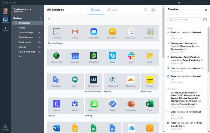 Timeline All Desktops