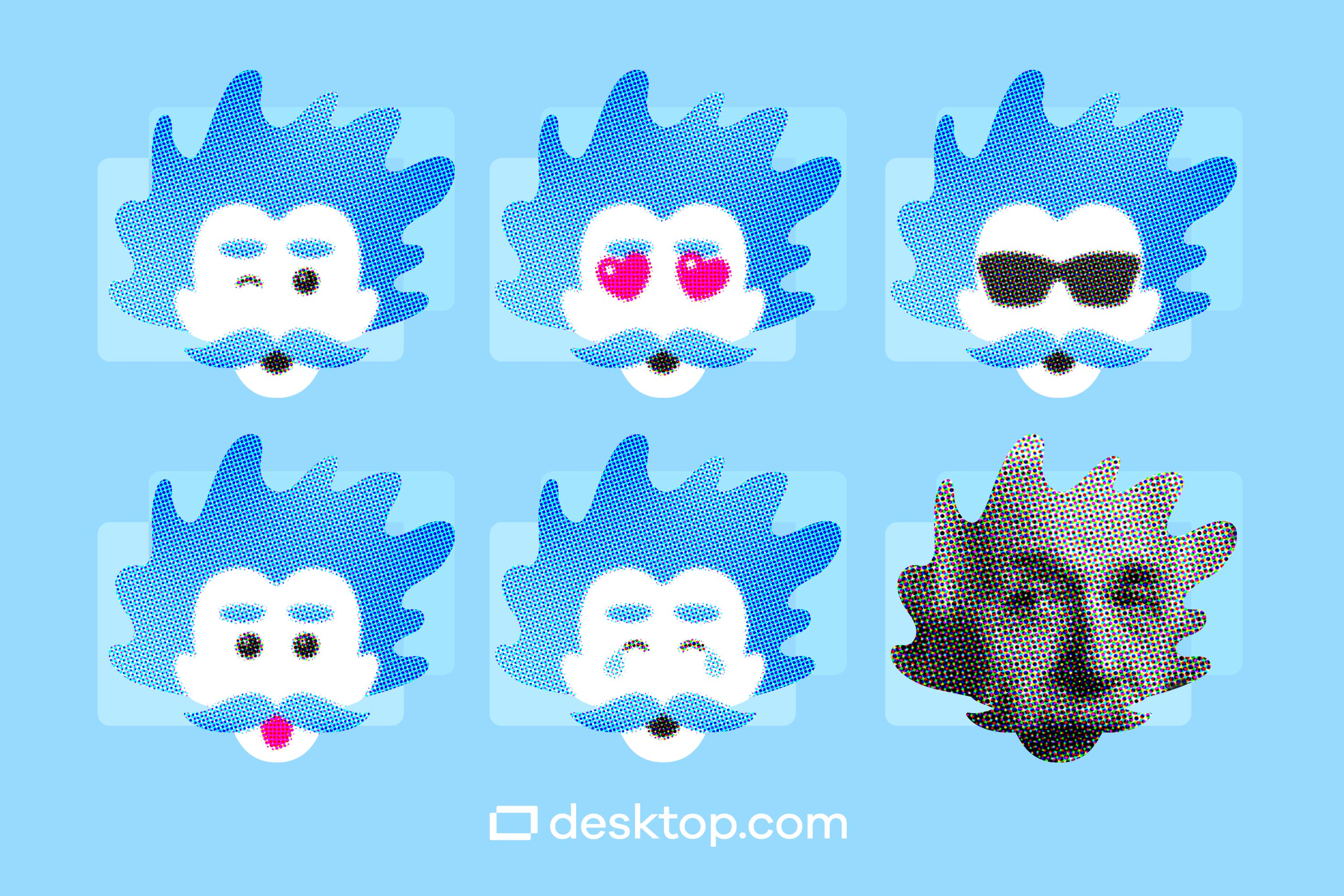 6 different emoticons with the Albot avatar