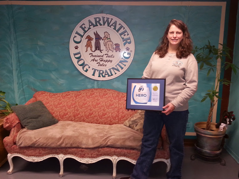 Gina with 7 News Award