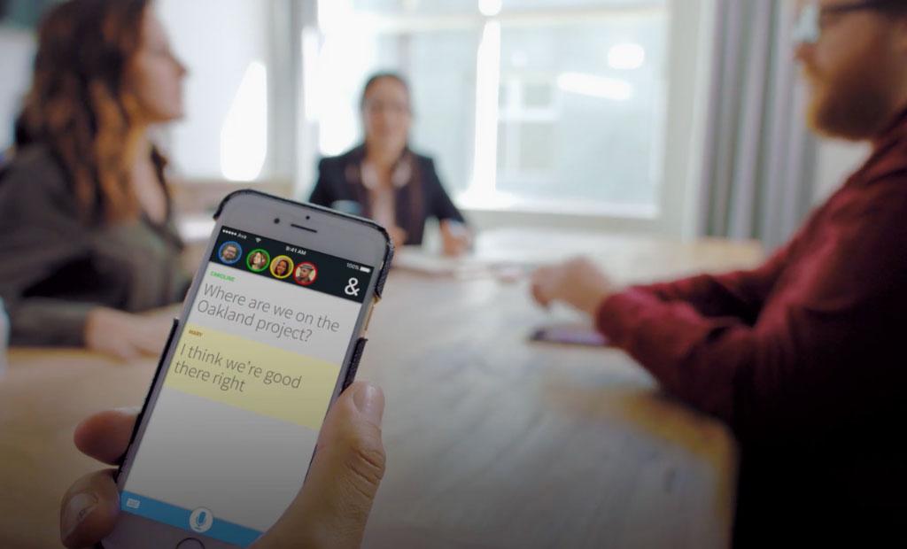 Exemple de transcription vidéo sur smartphone