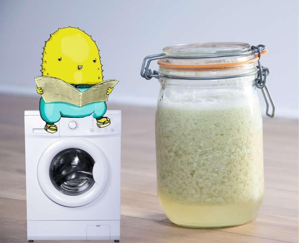Découvre 2 recettes pour fabriquer ta lessive liquide maison au savon de Marseille vert ou blanc, au choix !