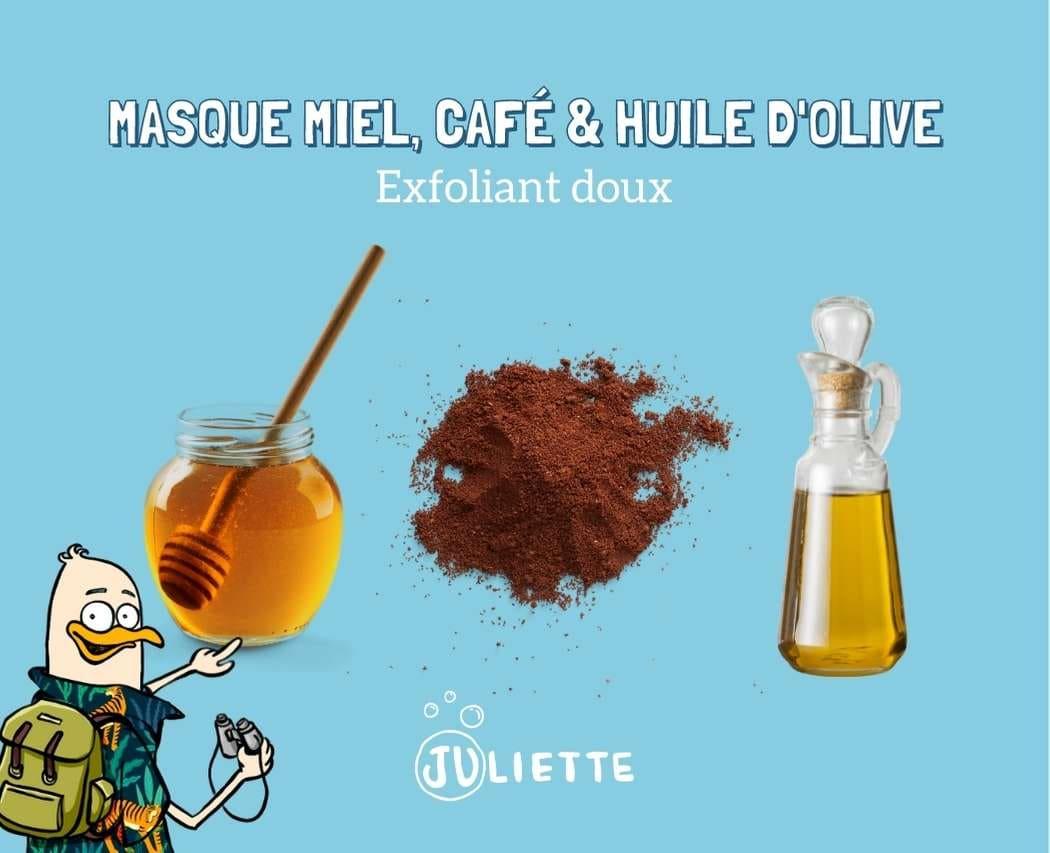 Masque exfoliant au miel et cafe