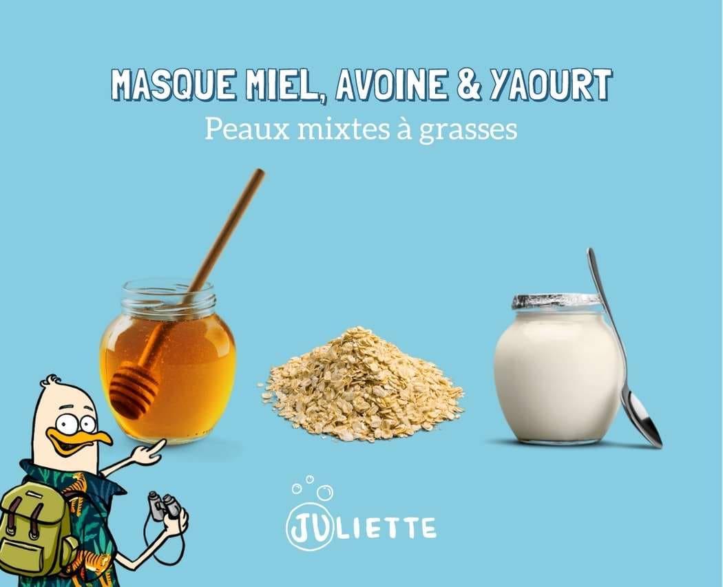 Masque miel avoine et yaourt pour peaux mixtes et grasses