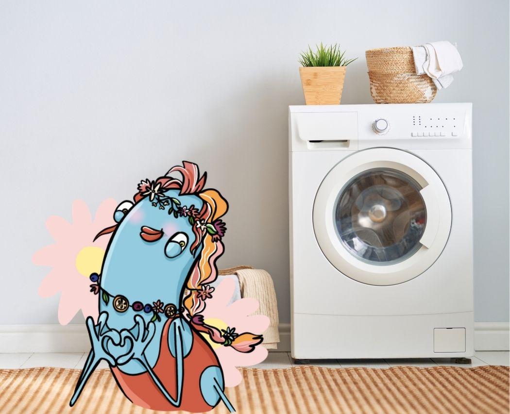 JU fait sa lessive dans sa buanderie zero dechet