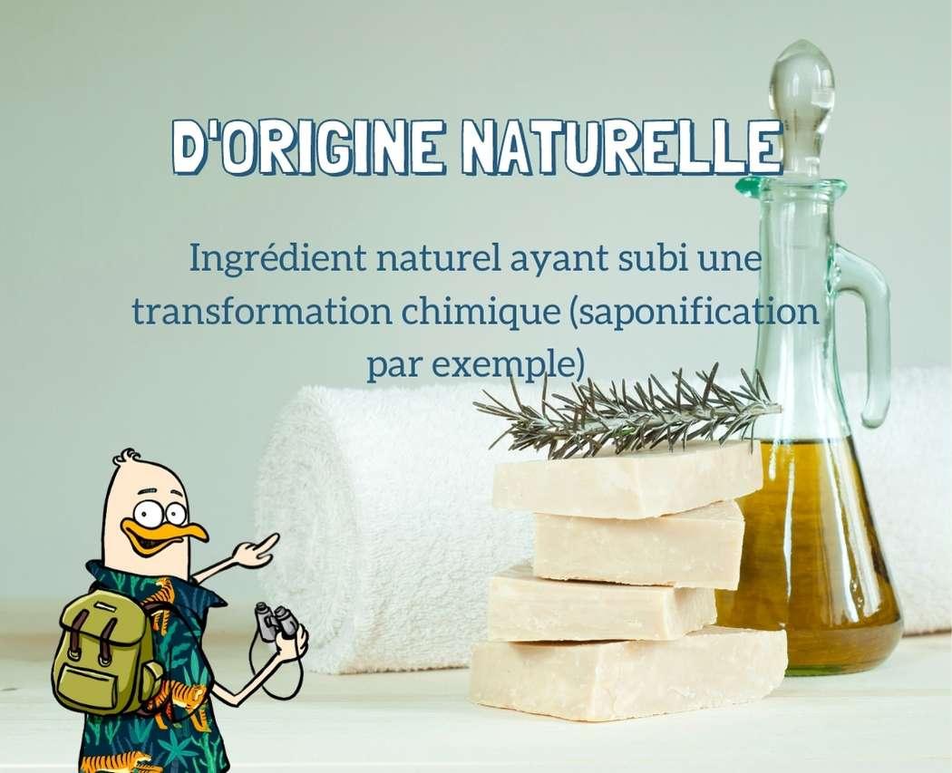 Ingredient d'origine naturelle modifie par la chimie