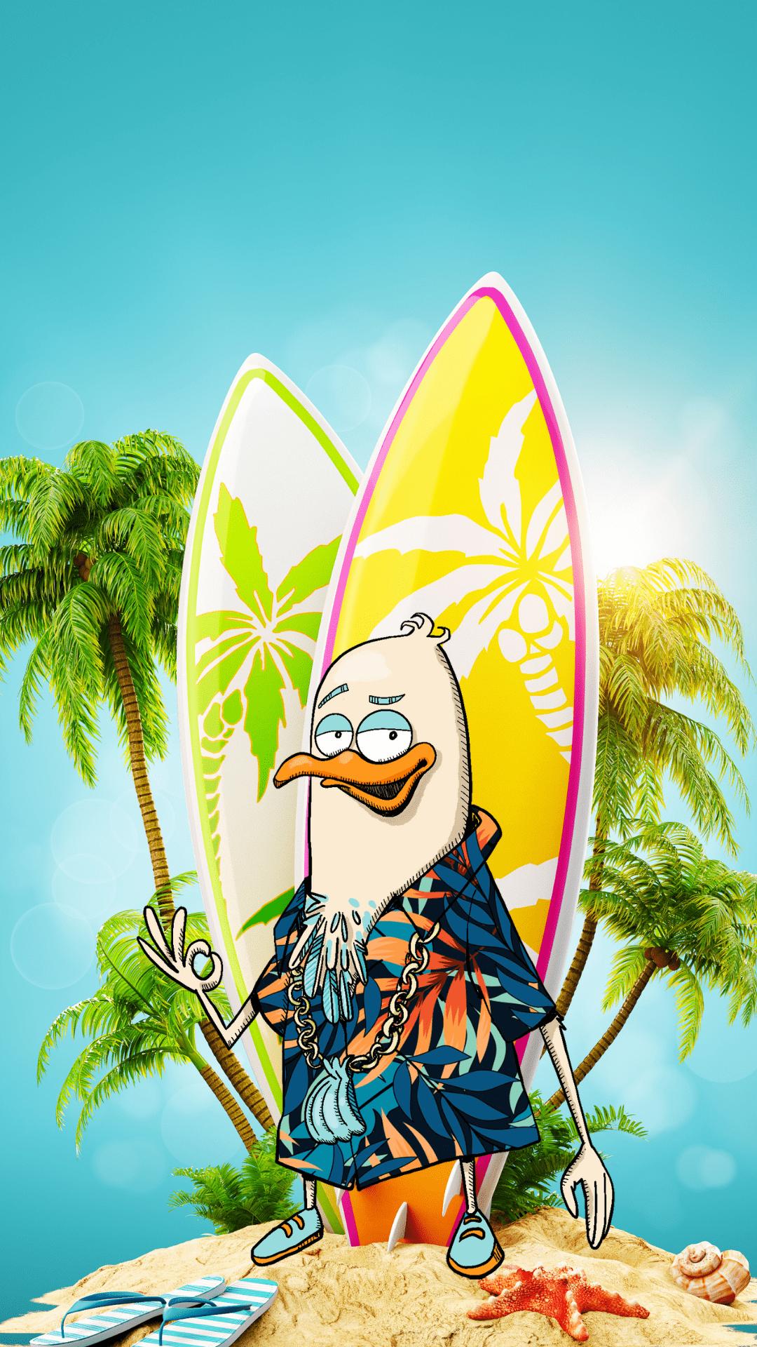 Fonds d'ecran ete planche de surf juliette
